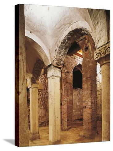 Romanesque Crypt in San Salvatore Church, Brescia, Italy, 8th-16th Century--Stretched Canvas Print