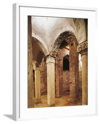 Romanesque Crypt in San Salvatore Church, Brescia, Italy, 8th-16th Century--Framed Art Print