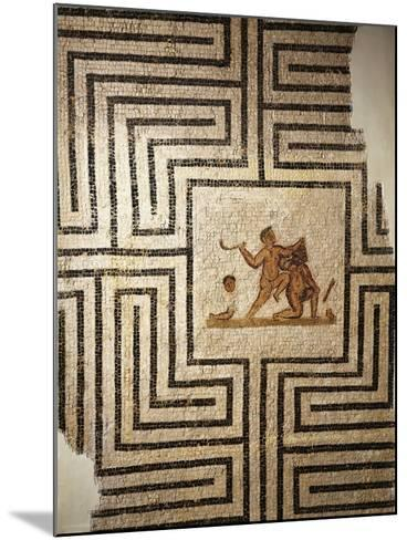 Tunisia, Thuburbo Majus, Mosaic Work Depicting Theseus Against the Minotaur in the Labyrinth--Mounted Giclee Print