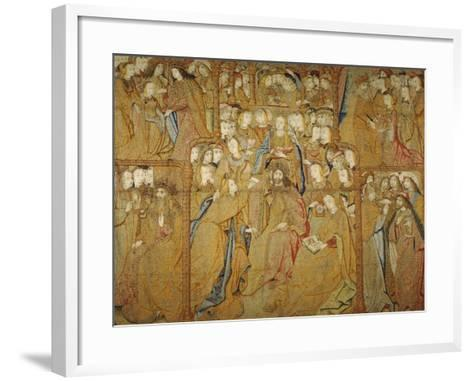 Angel Gabriel Is Sent by the Lord to Announce to Mary the Birth of Jesus Christ--Framed Art Print