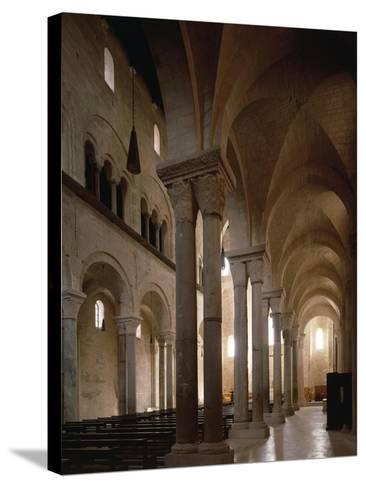Interior of Cathedral of San Nicola Pellegrino, Trani, Apulia, Italy, 12th Century--Stretched Canvas Print