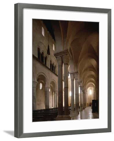 Interior of Cathedral of San Nicola Pellegrino, Trani, Apulia, Italy, 12th Century--Framed Art Print