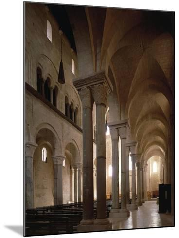 Interior of Cathedral of San Nicola Pellegrino, Trani, Apulia, Italy, 12th Century--Mounted Giclee Print