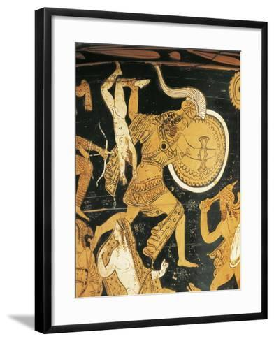Red-Figure Pottery, Krater, from Civita Castellana, Ancient Falerii, Rome Province, Italy, Detail--Framed Art Print
