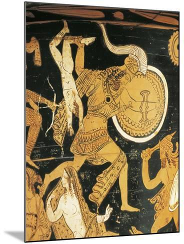 Red-Figure Pottery, Krater, from Civita Castellana, Ancient Falerii, Rome Province, Italy, Detail--Mounted Giclee Print