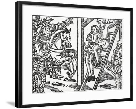 Richard of Normandy Refuses to Denounce Charlemagne before Regnault, Who Threatens Death--Framed Art Print