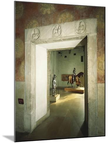 Italy, Milan, Sforza Castle, Colombine Hall, Detail from Door with Marble Reliefs--Mounted Giclee Print