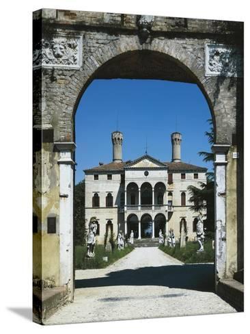 Glimpse of Villa Giustinian or Castello Ciani Bassetti, Roncade, Veneto, Italy, 16th Century--Stretched Canvas Print