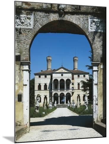 Glimpse of Villa Giustinian or Castello Ciani Bassetti, Roncade, Veneto, Italy, 16th Century--Mounted Giclee Print
