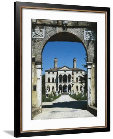 Glimpse of Villa Giustinian or Castello Ciani Bassetti, Roncade, Veneto, Italy, 16th Century--Framed Art Print