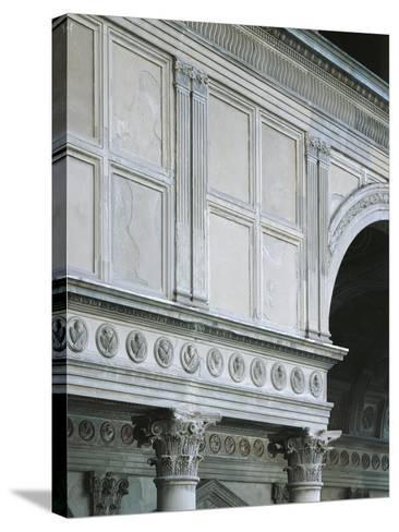 Architectural Detail from Pazzi Chapel, Architect Filippo Brunelleschi--Stretched Canvas Print