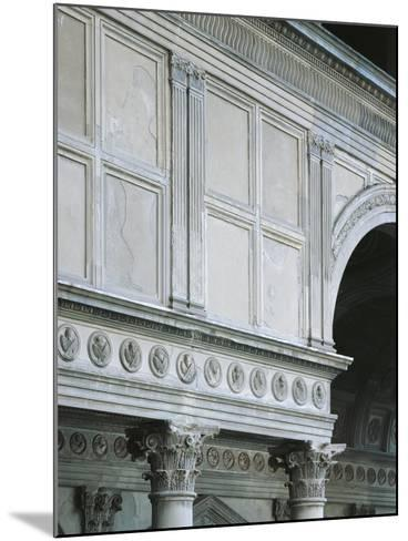 Architectural Detail from Pazzi Chapel, Architect Filippo Brunelleschi--Mounted Giclee Print