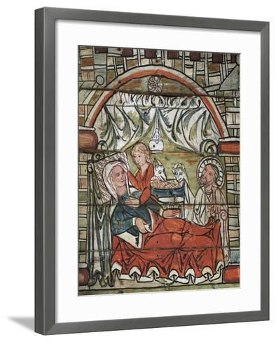 Nativity of Jesus, Late 13th Century, Norway--Framed Art Print