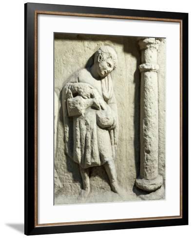 Germany, Trier, Relief Depicting Servant on Monument at Igel--Framed Art Print