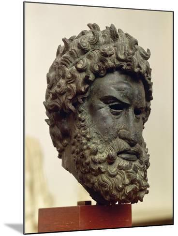 Bronze Portrait Head of Boxer Satyros of Elis--Mounted Giclee Print