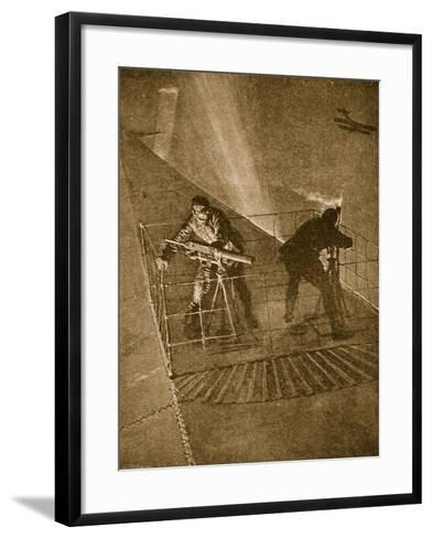 Placed on the Pinnacle and Very Throne of Peril: Repelling Enemy Aircraft--Framed Art Print