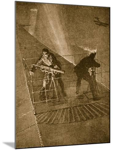 Placed on the Pinnacle and Very Throne of Peril: Repelling Enemy Aircraft--Mounted Giclee Print