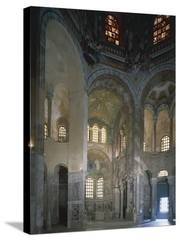 Italy, Emilia Romagna Region, Ravenna, Presbytery and Apse with Mosaics in Basilica of San Vitale--Stretched Canvas Print