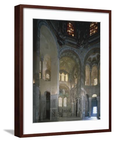 Italy, Emilia Romagna Region, Ravenna, Presbytery and Apse with Mosaics in Basilica of San Vitale--Framed Art Print