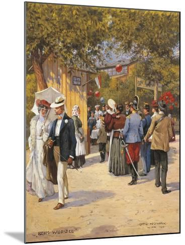 Austria, Vienna, a Walk in the Prater Painting--Mounted Giclee Print