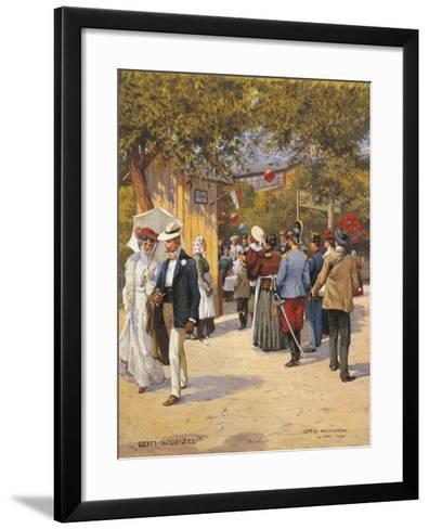 Austria, Vienna, a Walk in the Prater Painting--Framed Art Print