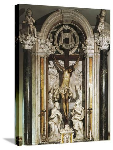 Crucifix Altar from Recco Parish Church--Stretched Canvas Print