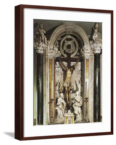 Crucifix Altar from Recco Parish Church--Framed Art Print