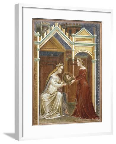 Salome Offering the Head of John the Baptist to Her Mother Herodius, C.1350-60--Framed Art Print
