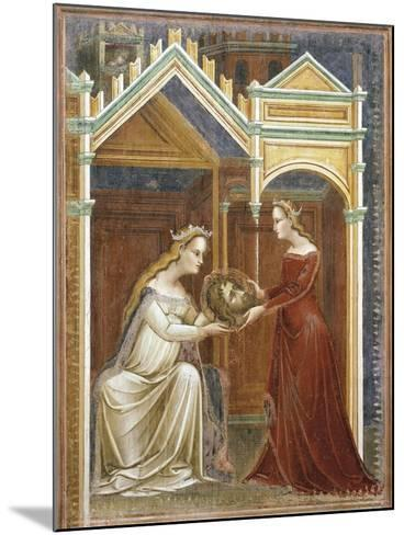 Salome Offering the Head of John the Baptist to Her Mother Herodius, C.1350-60--Mounted Giclee Print