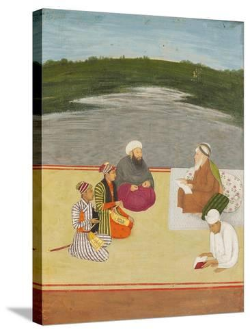 Discussion Between Learned Men and Princes, Late 17th- Early 18th Century--Stretched Canvas Print
