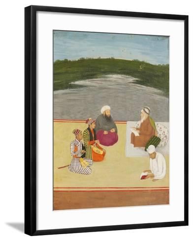 Discussion Between Learned Men and Princes, Late 17th- Early 18th Century--Framed Art Print