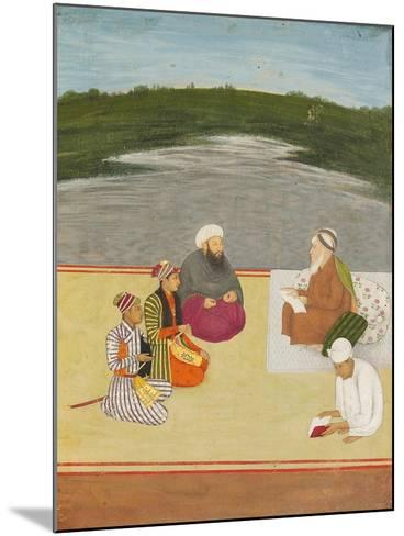 Discussion Between Learned Men and Princes, Late 17th- Early 18th Century--Mounted Giclee Print