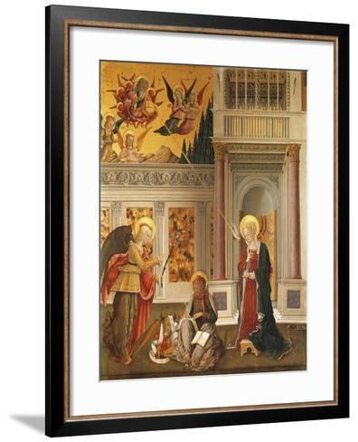 Annunciation to Mary and Saint Luke the Evangelist--Framed Art Print