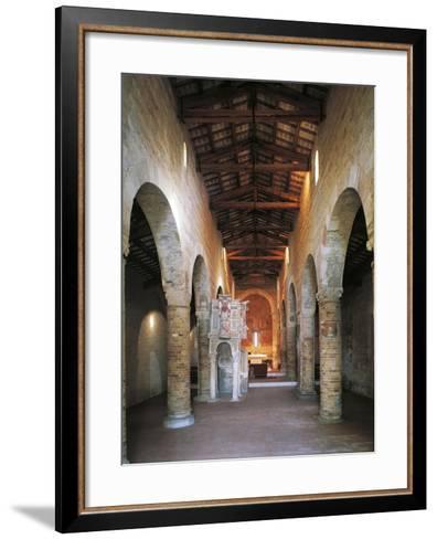 Interior of the Abbey of Santa Maria Del Lago, Moscufo, Abruzzo, Italy--Framed Art Print