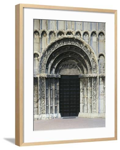 12th Century Doorway of Church of Santa Maria Della Piazza, Ancona, Italy, 13th Century--Framed Art Print