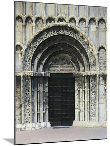 12th Century Doorway of Church of Santa Maria Della Piazza, Ancona, Italy, 13th Century--Mounted Giclee Print