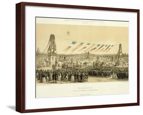 Fête De La Concorde, Arrival of Corporations, Champ-De-Mars, Paris, 1848--Framed Art Print