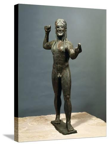 Zeus or Poseidon, Bronze Statue from Ugento in Apulia, Italy--Stretched Canvas Print