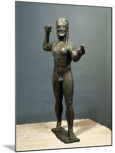 Zeus or Poseidon, Bronze Statue from Ugento in Apulia, Italy--Mounted Photographic Print