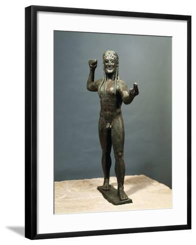 Zeus or Poseidon, Bronze Statue from Ugento in Apulia, Italy--Framed Art Print
