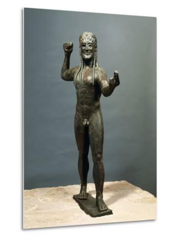 Zeus or Poseidon, Bronze Statue from Ugento in Apulia, Italy--Metal Print