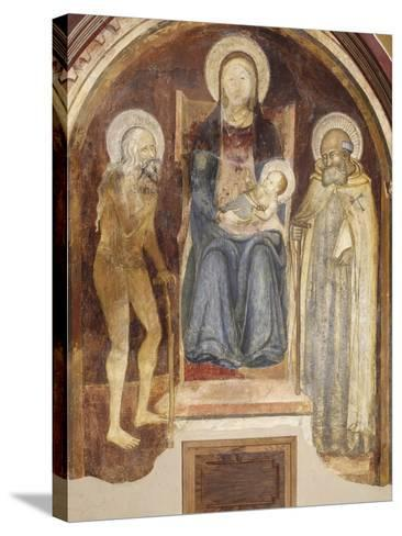 Madonna and Child with Saints, 14th-15th Century--Stretched Canvas Print