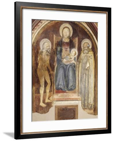 Madonna and Child with Saints, 14th-15th Century--Framed Art Print