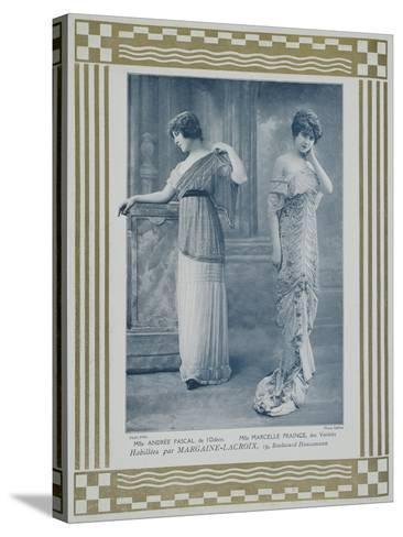 Portrait of Actresses Andree Pascal--Stretched Canvas Print
