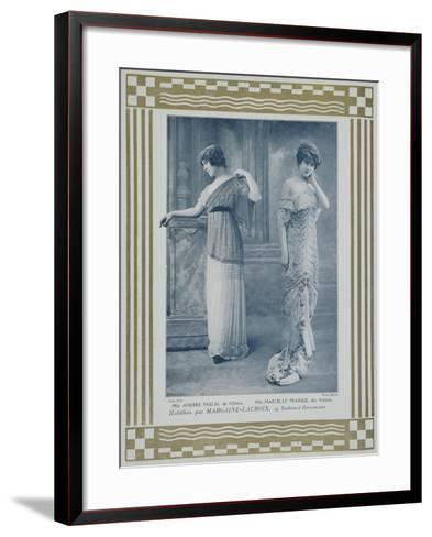 Portrait of Actresses Andree Pascal--Framed Art Print