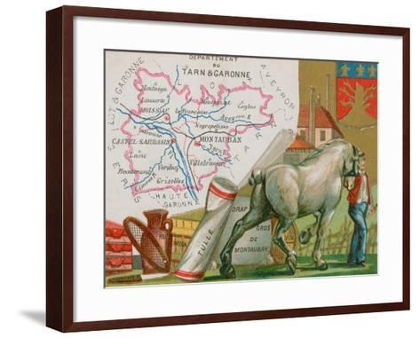 Department of Tarn Et Garonne in the Southwest of France--Framed Art Print