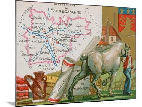 Department of Tarn Et Garonne in the Southwest of France--Mounted Giclee Print