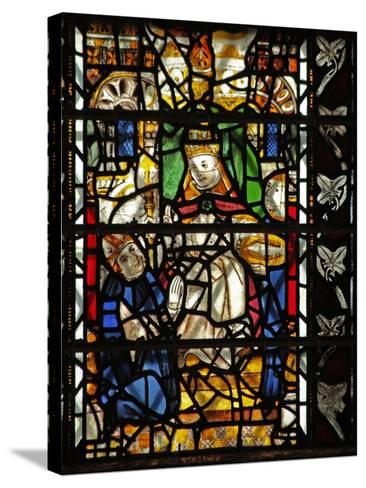 Window W58 Depicting St Thomas Becket with the Pope--Stretched Canvas Print