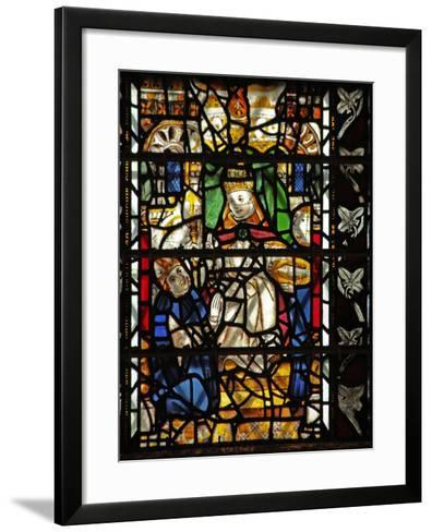 Window W58 Depicting St Thomas Becket with the Pope--Framed Art Print