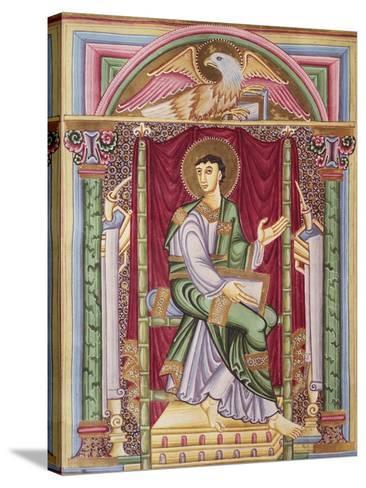 Saint John, Miniature from the Caesareus Upsaliensis Code, 1045, Manuscript--Stretched Canvas Print